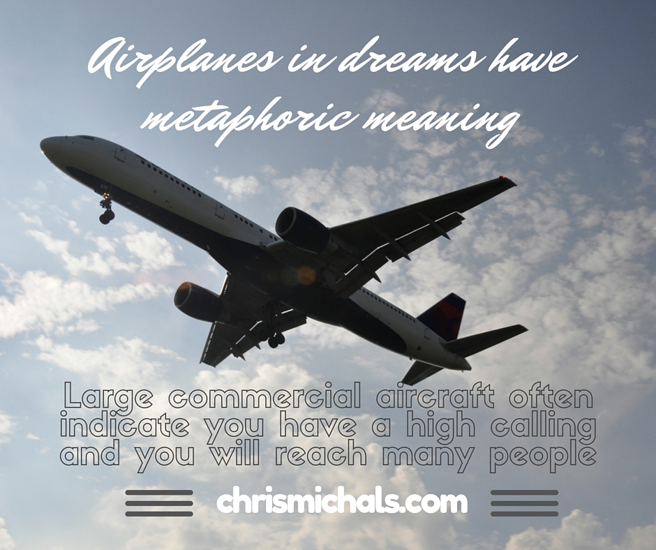 Commercial airplanes in dreams